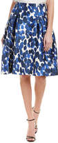 Carolina Herrera Silk & Wool-Blend A-Line Skirt