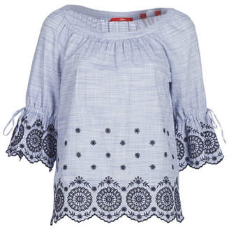 S'Oliver 04-899-61-5060-90G22 women's Blouse in Blue