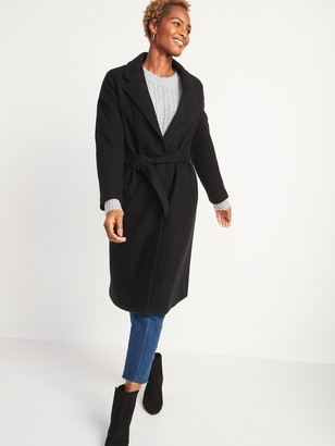 Old Navy Oversized Soft-Brushed Tie-Belt Coat for Women