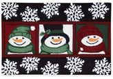 Nourison 30-Inch x 20-Inch Snowman Handhook Holiday Accent Rug in Black