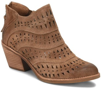Sofft Suede Pointed-Toe Laser-Cut Booties - Westwood II
