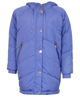 Silvian Heach Chrea Long Down Hooded Jacket Colour: VIOLET, Size: XS