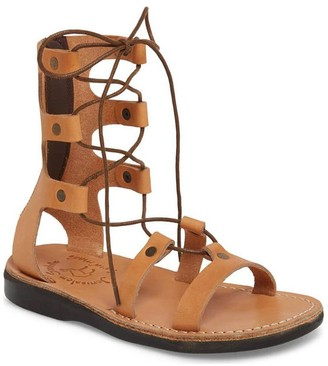 Jerusalem Sandals Women's Leather Lace-Up Sandals - Rebecca
