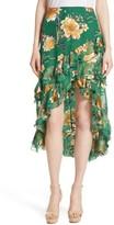 Alice + Olivia Women's Sasha Ruffled Asymmetrical Floral Skirt