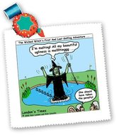 3dRose LLC qs_3024_1 Rich Diesslins Famous People Places Books Cartoons - Wicked Witch and Golf - Quilt Squares