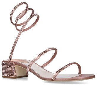Rene Caovilla Embellished Twirl Sandals 40