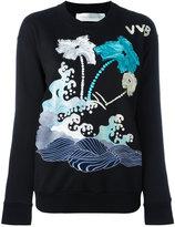 Victoria Victoria Beckham - printed sweatshirt - women - Cotton - S