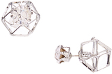 Carole Crystal & Silvertone Geometric Prism Reversible Stud Earrings