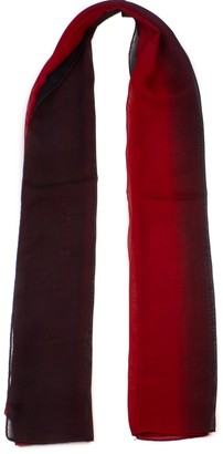 Mytorpendz Mytoptrendz Women's Ombre Chiffon Scarf Lightweight Oblong Gradiente Scarves Black and Red