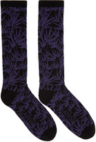 Lanvin Black Jacquard Socks