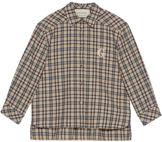 Gucci Petit Check Embroidered Shirt