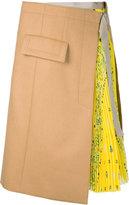 Sacai wrap skirt - women - Cupro/Wool/Nylon - 1