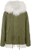 MR & MRS ITALY - Shearling-lined Cotton-canvas Parka - Army green