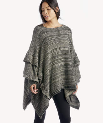 Sole Society Women's Ruffle Trim Poncho Black Multi One Size Polyester From