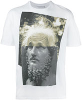 Neil Barrett Einstein statue print T-shirt - men - Cotton - S