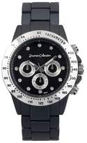 Journee Collection Women's Rhinestone Accented Metal Link Watch