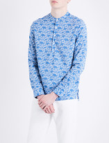 Sandro Floral-print regular-fit cotton shirt