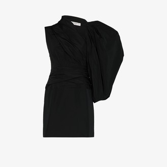 Givenchy Asymmetric Taffeta Mini Dress
