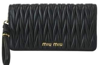 Miu Miu Matelasse Wrist Strap Clutch Bag