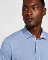 Ted Baker Stripe detail cotton polo shirt