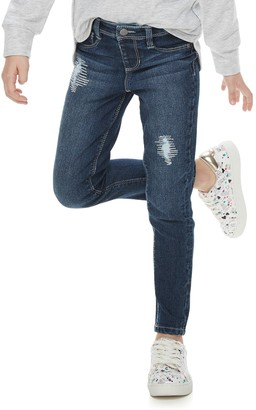 Sonoma Goods For Life Girls 4-12 SONOMA Goods for Life Lurex Stitch Destructed Skinny Jeans
