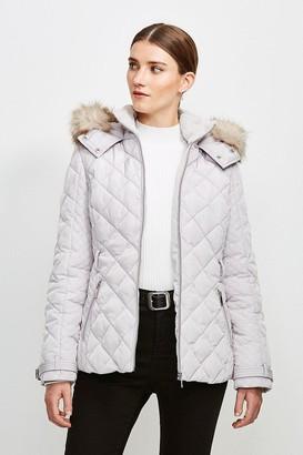 Karen Millen Short Quilted Belt Coat