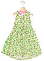 Lilly Pulitzer Girls' Floral Print Sleeveless Dress
