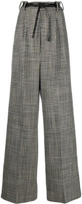 Tom Ford Herringbone Wide Leg Trousers
