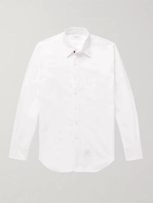 Thom Browne Slim-Fit Button-Down Collar Cotton-Poplin Shirt