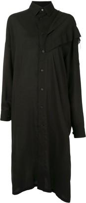 Yohji Yamamoto Asymmetrical Long Ruffled Shirt