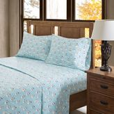 True North by Sleep Philosophy Snowmen Flannel Sheet Set in Blue