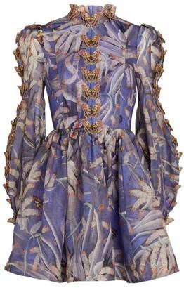 Zimmermann Butterfly Embroidered Botanica Dress