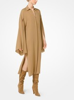 Michael Kors Silk-Georgette Slit-Sleeve Shirtdress