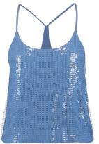 Tibi Sequined silk camisole