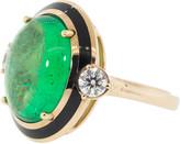 Selim Mouzannar Muzo Colombian Cabochon Emerald Ring