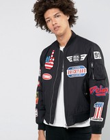 Love Moschino Badge Bomber Jacket