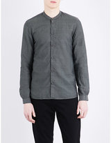 The Kooples Mandarin-collar Classic-fit Linen And Cotton-blend Shirt