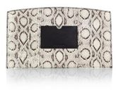 Reed Krakoff Atlantique Leather-Trimmed Snakeskin Pouch