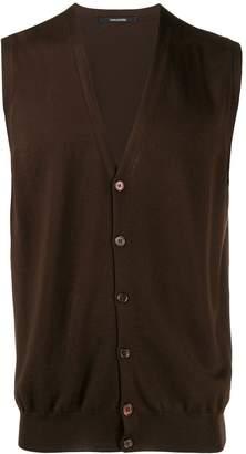 Tagliatore button up sleeveless cardigan