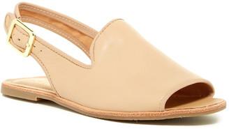 Franco Sarto Valonia Leather Peep Toe Slingback Sandal - Wide Width Available