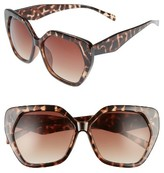 BP Women's 60Mm Hexagon Sunglasses - Tort