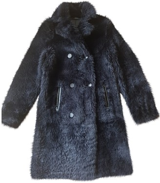 Joseph Navy Shearling Coat for Women