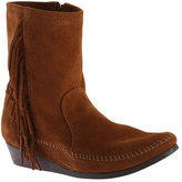 Minnetonka Women's Side Fringe Wedge Ankle Boot