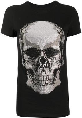 Philipp Plein Skull rhinestone T-Shirt