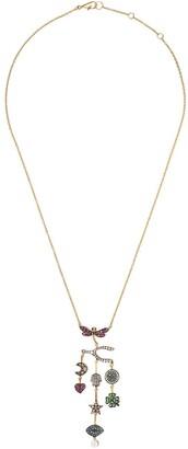Annoushka 18kt yellow gold Love Diamonds Chandelier diamond necklace