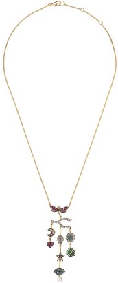 Annoushka 18kt yellow gold Love Diamonds Chandelier diamond necklace