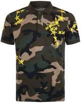 Valentino Star Camouflage Polo Shirt