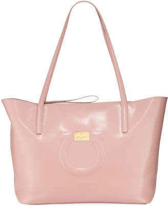 Salvatore Ferragamo Gancio City Large Leather Tote Bag