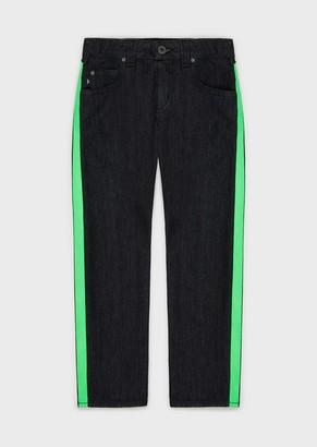 Emporio Armani J45 Jeans With Neon Strip