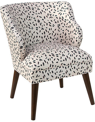 One Kings Lane Kira Accent Chair - Cream Dot